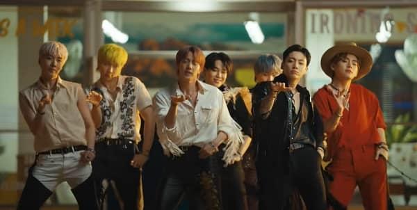 """BTS : le titre """"Permission to Dance """" atteint les 200 millions de vues"""