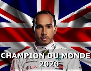 Hamilton, champion du monde 2020 F1