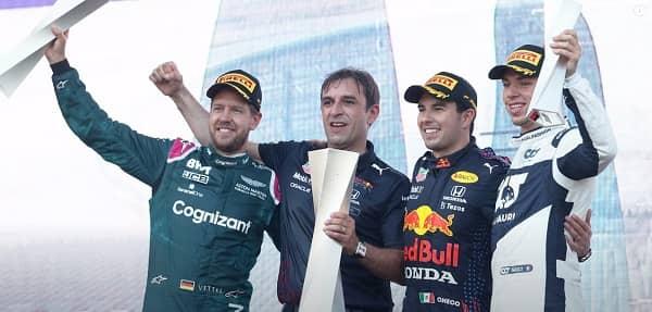 VIP Crossin - Grand prix  d'Azerbaïdjan 2021, une course folle pour un podium inédit : Perez, Vettel, Gasly
