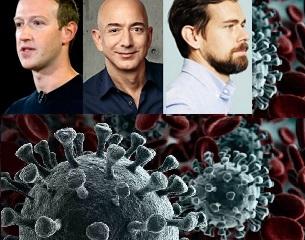 Coronavirus | Jack Dorsey,  Mark Zuckerberg et Jeff Bezos, plus de 1 milliard de dollars de dons