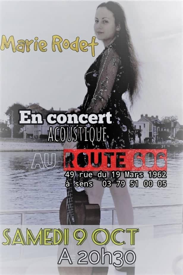 Marie Rodet en concert le 09 octobre à 20h30