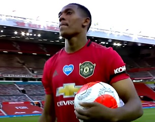 Anthony Martial . 1, 2 et 3 buts
