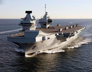 Covid-19 épidémie HMS Queen Elizabe