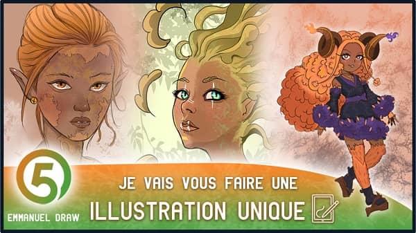 VIP Crossin - Emmanuel vous propose de créer les personnages d'une série d'animation, d'une BD ou d'un jeu-vidéo